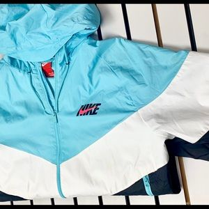 Retro Nike Multi Color Hooded Zip up Jacket